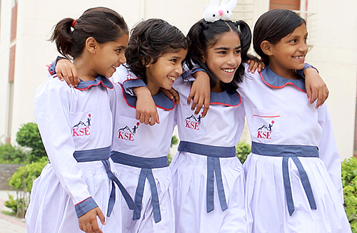 Children at KORT Complex in the yard