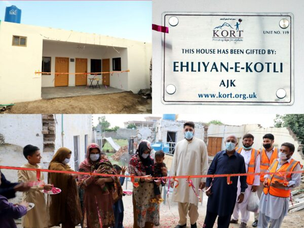 Earthquake Housing Inaugurations Sept 2020 - Welcome to Kashmir Orphan Relief Trust